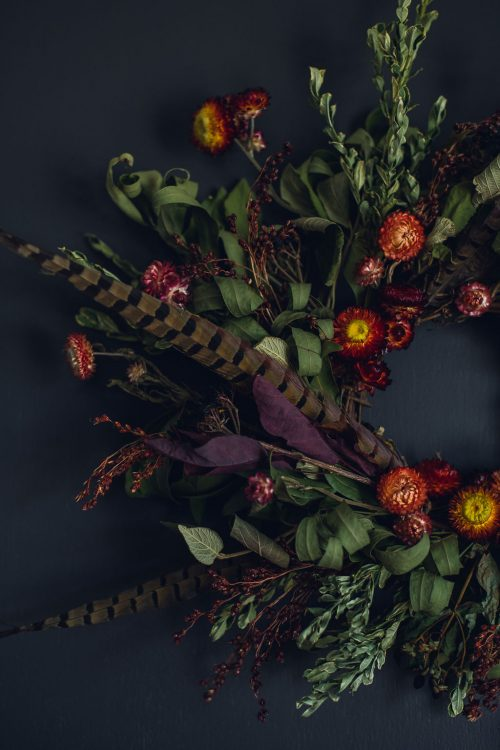 Dried Flower Wreaths & Centerpieces