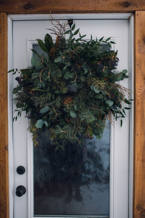 Local Foraged Winter Holiday Wreath