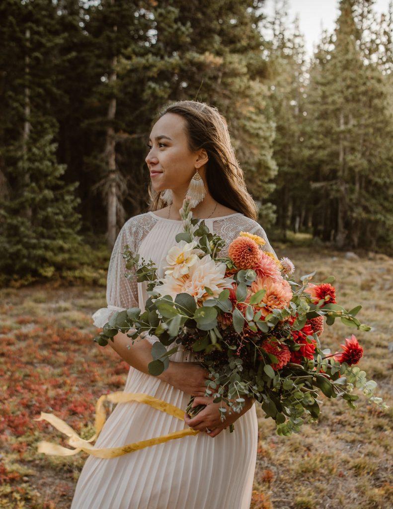 autumn elopement bouquet
