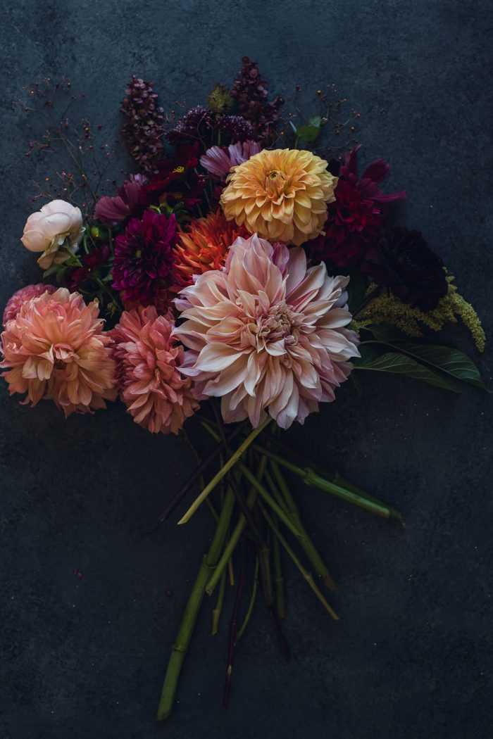 bunch of autumn dahlias