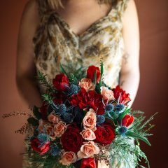 Rustic Romance Rose Bouquet